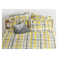 pixelate grey and yellow patterned jacquard double duvet cover for popular household yellow and grey duvet cover decor