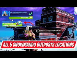 Every snowmando outpost location in fortnite (operation snowdown). All 5 Snowmando Outposts Locations Visit Different Snowmando Outposts In Fortnite