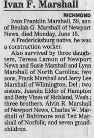 Ivan Marshall Obituary - Newspapers.com