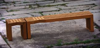 Small Picture Garden bench contemporary teak FACET PLATO