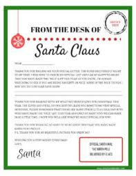 The balanced printable letter to santa. Letters To And From Santa Free Printables Simply September