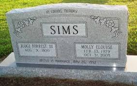 SIMS, MOLLY ELOUISE - Prairie County, Arkansas   MOLLY ELOUISE SIMS -  Arkansas Gravestone Photos