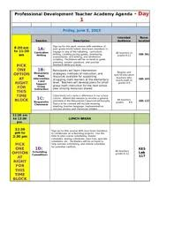 Professional Schedule Template Professional Development Conference Schedule Template