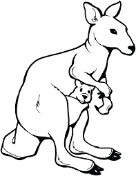 Australian Animals Coloring Pages Animal Template Free Colouring