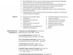 Sample Registered Nurse Resume Haadyaooverbayresort Com