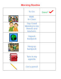 Classroom Routine Chart Morning Routine Checklist Worksheets Teaching Resources Tpt