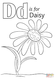 Small Picture Letter D is for Daisy coloring page Free Printable Coloring Pages