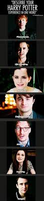 describe your harry potter experience in one word funny describe your harry potter experience in one word