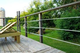 diy deck railing inexpensive how to rails out of steel conduit look like wire table