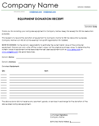 Donation Receipt Letter Templates Donation Receipt Template 12 Free Samples In Word And Excel