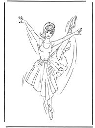 Ballerina 1 Kleurplaat Ballet