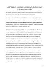 reflective essay mentorship critical self analysis of mentoring a nursing student uk essays
