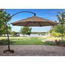 treasure garden 11 ft cantilever offset sunbrella patio umbrella with base com