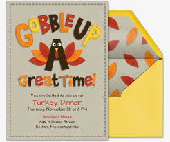 Free Online Thanksgiving Invitations Free Online Thanksgiving Dinner Invitations Evite