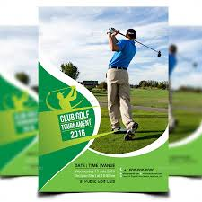 Golf Tournament Brochure Template | Popular Sample Templates