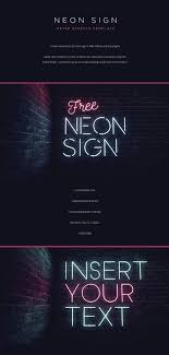 After Effect Presentation Template Free Neon Sign Free After Effects Template Ad Graphic Design
