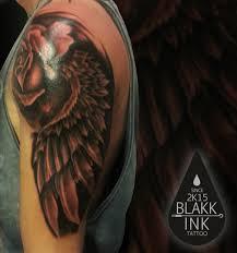 Tetování Křídlo A Růže Tetování Tattoo