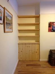 fitted shelving cupboards and flooring