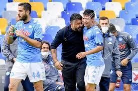 Napolis forward Hirving Lozano R jubilates his Editorial Stock Photo -  Stock Image