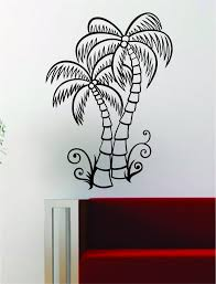 startling wall vinyl art coconut palm tree decal decor room beautiful nature south africa cape town