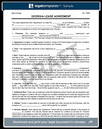 Georgia Residential Lease/rental Agreement | Create & Download
