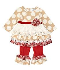 Counting Daisies Baby Girls 3 24 Months Mixed Media Fit And Flare Dress Leggings Set