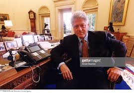 clinton oval office. U.S. President Bill Clinton Poses For Portrait In The Oval Office August 17, 1999 A