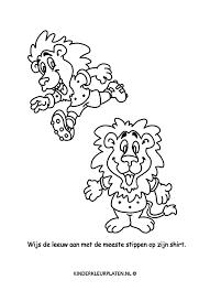 Kleurplaat Stippen Leeuw Spelletjes