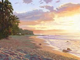 sunset beach painting sunset beach oahu by steve simon