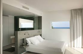 master bedroom with open bathroom. View In Gallery Dupli Dos By Juma Architects Master Bedroom With Open Bathroom