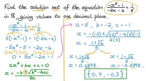 finding the solution set of a quadratic