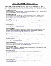 48 Fresh Resume Truck Driver Sample Awesome Resume Example