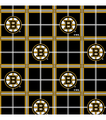 boston bruins flannel fabric 44 u0022 plaid