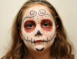 sugar skulls simple makeup kid the image