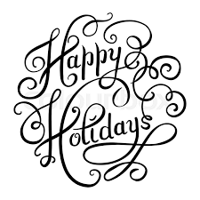 happy holidays black and white card. Simple White Black And White Calligraphic Happy Holidays Hand Writing Inscription For  Greeting Cards Vector Illustration  Stock Vector Colourbox In And White Card