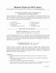 Sample Resume Cover Letter For Automotive Technician Valid