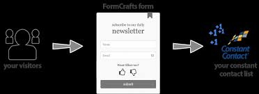 constant contact signup form formcrafts constant contact sign up form add on