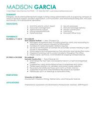 Sample Resume Of Receptionist