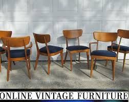 6 heywood wakefield 1950s chairs vine mid century midcentury mid century modern dining room chair part
