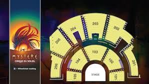 Cirque Du Soleil Mystere Seating Chart