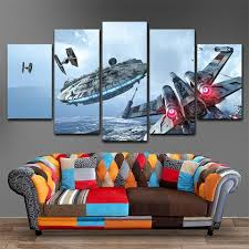 star war ufo canvas painting on star wars canvas panel wall art with star wars canvas art dakmoon panel wall art dakmoon we