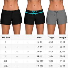 Details About Us New Womens Surf Boardshorts Swim Board Shorts Sports Beach Pants Plus Size