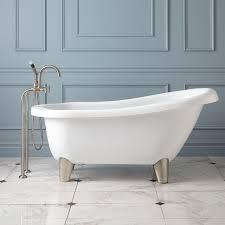 hattie acrylic slipper tub  modern feet  bathroom