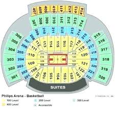Hawks Seating Chart Philips Arena Seating Map Gpswellness Info