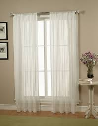... Sheer Curtain Ideas For Living Room White Sheer Curtains Elegant And  White Neutral And Soft Color ...