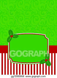 Christmas Notecard Vector Clipart Elegant Striped Christmas Notecard Vector