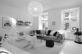 Elegant Ball Shaped Chandelier For Modern Living Room Decorating Ideas With  White And Grey Interior Colors And Retro Chairs