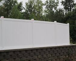 Vinyl fence styles Short Commercial Privacy Vinyl Fence Style Pinecrest Fence Company Pinecrest Fence Company Commercial Vinyl Fencing Company In