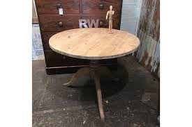 lovely round sanded pine table kitchen dining farmhouse rustic photo 1