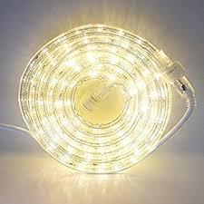 outdoor led rope lights warm white. 24 ft. plugin rope lights, 287 warm white leds, connectable, dimmable, outdoor led lights r